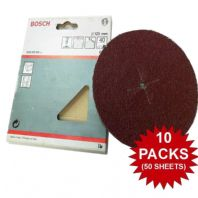 "10 PACKS Bosch Sanding Discs 40 Grit Coarse 125mm 5"" For Drill Backing Pads YD"